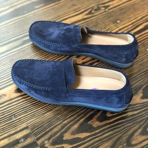 Vince Shoes - Vince Men's Suede Navy Loafers